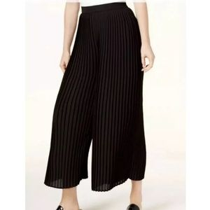 Eileen Fisher black pleated culotte pants